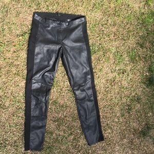 H&M faux leather motor pants